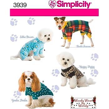 Simplicity A XXS Schnittmuster 2393 Hund Kleidung: Amazon.de: Küche ...