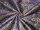 Schwere Seide Brokat Stoff violett grün x Metallic Gold