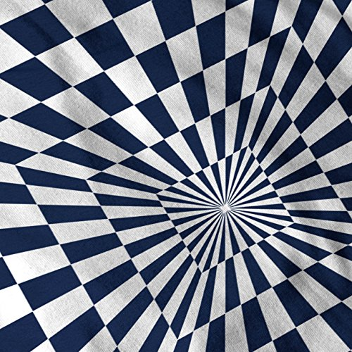 Platz Illusion Muster Trick Idee Damen S-2XL Muskelshirt | Wellcoda Marine