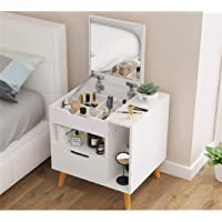Oncaarnival Mini Dressing Table Bedroom Nightstand Nordic Small Apartment Economy Simple Makeup Desk with Flip Mirror…