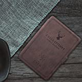 MOCA Vintage Soft Classic Kindle Paperwhite Protective PU Leather Flipcover for Amazon Kindle