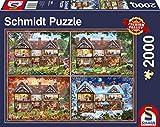 Schmidt Spiele Puzzle 58345 Jahreszeiten Haus, 2000 Teile, bunt