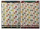 Große A120172018Akademischer Mid, Jahresplaner Kalender mit Kugelschreiber Aufkleber Erhältlich in zwei Farbe