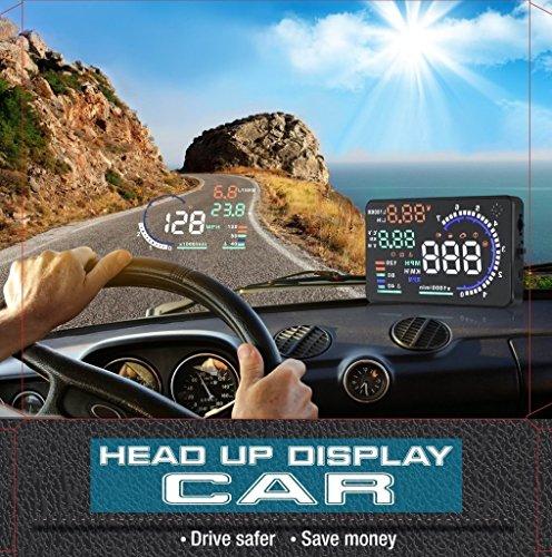 14cm Grand écran voiture Hud affichage tête avec OBD2Interface Plug & Play A8