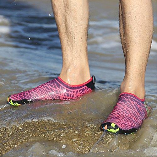 SAGUARO Estate Scarpe da Spiaggia Sport Acquatici Immersione Scarpette Beach Swim Surf Yoga Aqua Shoes per Donna Uomo Rosa