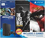 Includes Uncharted Collection, TLOU Remastered and GOW Remastered