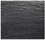 Wallario Herdabdeckplatte/Spritzschutz aus Glas, 1-teilig, 60x52cm, für Ceran- und Induktionsherde, Muster Schwarze Schiefertafel Optik Steintafel