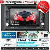 2DIN Autoradio CREATONE V-336DG für VW Touareg (2003 - 2010) mit GPS Navigation (Europa), Bluetooth, Touchscreen, DVD-Player und USB/SD-Funktion