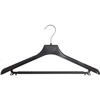 hagspiel 20 st kleiderb gel aus kunststoff schwarz mit steg und rockhaken baumarkt. Black Bedroom Furniture Sets. Home Design Ideas