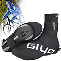 Cycling Shoe Covers, Reusable Cold-Proof Waterproof Bike Bicycle Warm Overshoes with Reflective Design for Men Women…