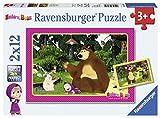 Ravensburger Kinderpuzzle 07585 Masha und der Bär Spaß im Wald