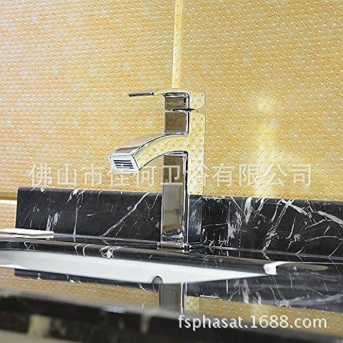 Furesnts casa moderna cucina e il lavandino del bagno rubinetti in rame in lega di zinco Lavabo sotto a immersione calde e fredde al di fuori del bacino idrico Miscelatore lavandino del bagno rubinetti,(Standard G 1/2 tubo flessibile universale