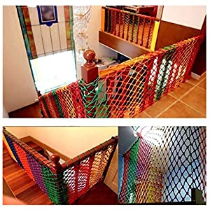 Stair Safety Net,out Nylon Climbing Net, Child Safety Net, Kindergarten Color Decoration Net Balcony Protection Net Stairs Anti-fall Net Fence Net Weaving Net 2m3m (Color : Outdoor, Size : 10 * 10M)   9