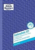 Avery Zweckform consegna Nota con ricevuta 1st 2nd e 3rd pagina stampato A53x 50fogli (testo in tedesco)