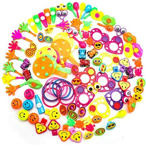 ielzeug Geburtstag Sortimente 108 STÜCKE Kleine Geschenke für Kids Party Favors Kinder Party Tombola Mitgebsel Kleinspielzeug Pinata Füllstoffe Karneval Preise ()