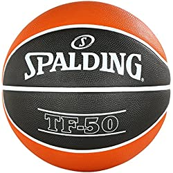 Spalding Acb Tf50 Sz. 5 (83-664Z) Balón de Baloncesto, Unisex Adulto, Naranja (Dark Orange) / Negro, 5