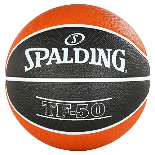 Spalding ACB TF50 Outdoor SZ.7 83-663Z Balón de Baloncesto, Unisex Adulto, Naranja / Negro, 7