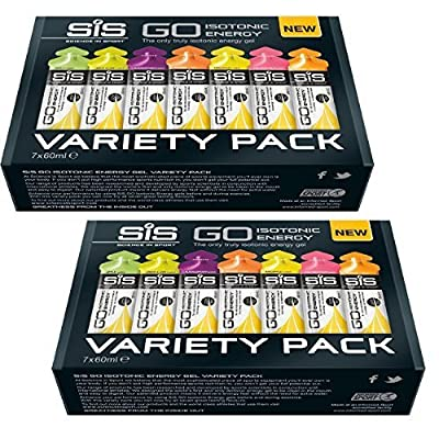 Science in Sport SiS Go Isotonic Energy Gel Variety -2 x Pack of 7 x 60ml by Science In Sports