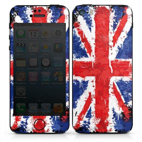 Apple iPhone 5 Case Skin Sticker aus Vinyl-Folie Aufkleber Union Jack England Flagge DesignSkins® glänzend