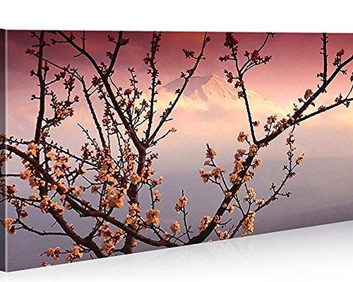 Quadro moderno Japón Blossom Feng Shui Impresión sobre lienzo–Quadro X sillones salón cocina muebles oficina casa–Fotográfica Tamaño XXL cuadros