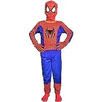 Culture Creation Super Hero Spider Man Dress for Kids Set of 2 (Costume,Mask)