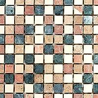 10 Mosaikmatten Mosaik Fliese Kombination Crystal//Stahl mix grau//blau f/ür WAND BAD WC K/ÜCHE FLIESENSPIEGEL THEKENVERKLEIDUNG BADEWANNENVERKLEIDUNG