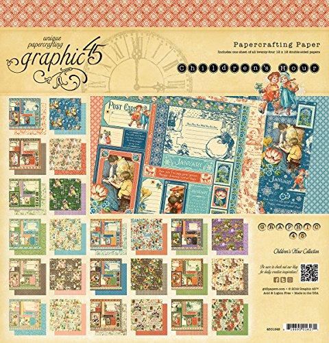 Graphique 45 Pad Papier Double Face 30,5 x 30,5 cm 2 Enfants de hour24 Designs