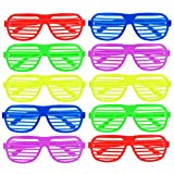 Satinior Shutter Shades Brille Partybrille, 5 Farben, 10 Paar