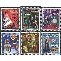 Prophila sellos para coleccionistas: Luxemburgo 717-722 (completa.edición.) nuevo con goma original 1965 caritas
