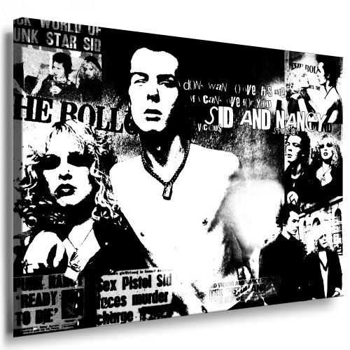 "'IMMAGINE ""Sex Pistols punk Bands immagine 100x 70cm da parete K. Poster. Tela già su telaio. Pop Art dipinto stampe artistiche, immagini da parete decorative, stile. Rock Music Bands/Pop Stars stampe artistiche"