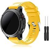TOPsic Compatibel Garmin Fenix 5 bandjes, Quick Fit 22 mm zachte siliconen sport vervangende band voor Garmin Fenix 5/Fenix 5