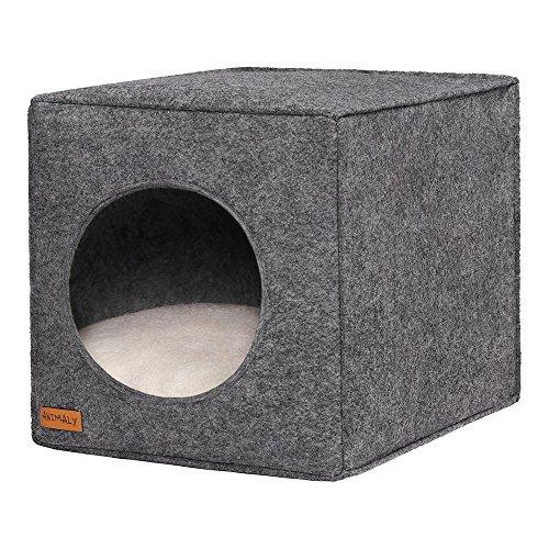 ANIMALY 5902659885104 Pets Cave für Hunde und Katzen, Ecru/Grey