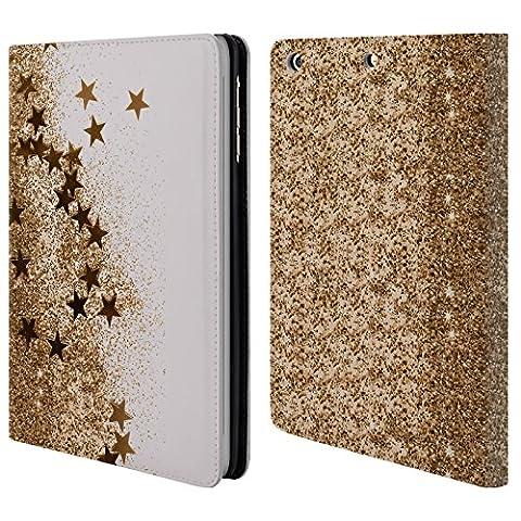 Offizielle Monika Strigel Gold 3 Sterne Brieftasche Handyhülle aus Leder für Apple iPad mini 1 / 2 / 3