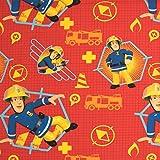 Stoffe Werning Baumwollstoff Lizenzstoff Feuerwehrmann Sam Rot Kinderstoffe TV Serie Öko-Tex - Preis Gilt für 0,5 Meter Vergleich