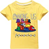 JDSWAN Unisex Niños Camiseta de Verano Impresión de F.R.I.E.N.D.S Camiseta de Manga Corta Casual T-Shirt Tops para Among Us N