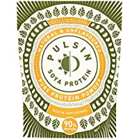 Pulsin' Unflavoured Soya Protein Powder 1kg | 90% Protein| Natural | Gluten Free | Vegan