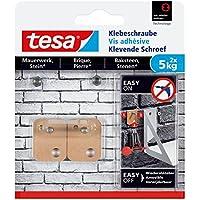 Tesa adhesivas Tornillo para muros y piedra, potencia de retención 5kg, 2unidades), 77905-00000-00