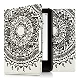 kwmobile Cover per Tolino Vision 1 / 2 / 3 / 4 HD - Custodia protettiva a libro per e-reader in similpelle - Case flip per e-book reader Design sole indiano nero bianco