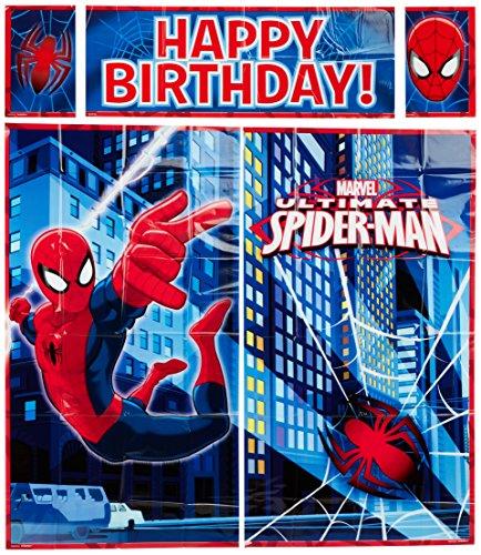 amscan Dekorationskit mit Spider-Man-Motiven, Wanddeko