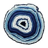Zheng Hui Shop Blaue Runde Teppiche nordischen modernen minimalistischen Teppich Schlafzimmer Bettdecke Teppich Drehstuhl Hängekorb Matten (Size : 120cm)