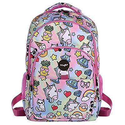 Fringoo Girls Boys Multi-Compartment Waterproof Fits Laptop School Backpack, 44 cm
