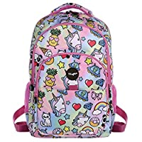 FRINGOO® Girls Boys Multi-Compartment School Backpack Waterproof Fits Laptop 17