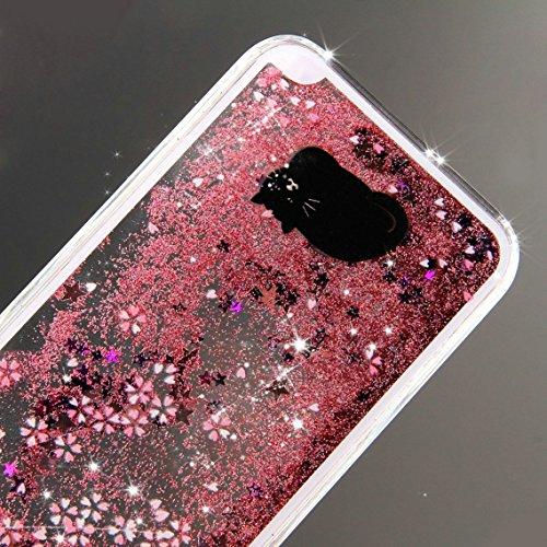 iPhone SE Hülle Glitzer,iPhone SE Hülle Hard,iPhone SE Hülle Clear,iPhone SE Transparent Crystal Clear flüssigkeit Case Hülle Klare Ultradünne Transparente Gel Schutzhülle Durchsichtig Rückschale Etui Animal Series 5