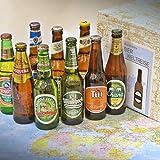 Premium Geschenk Bierweltreise verpackt im Präsentkarton + besonderes Geschenk + internationale Bier Spezialitäten + Tui + Moosehead + Cusquena + Quilmes + Windhoek + Tsingtao + Chang + Menabrea La Bionda + Moritz
