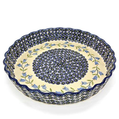 Bunzlauer Keramik Tarte- oder Quicheform 26,5 cm (Dekor Agnes)