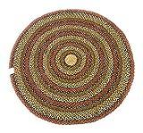 Second Nature Online Teppich, rund, gestreift, Geflochten, Baumwolle, 180 cm, Braun/Mehrfarbig