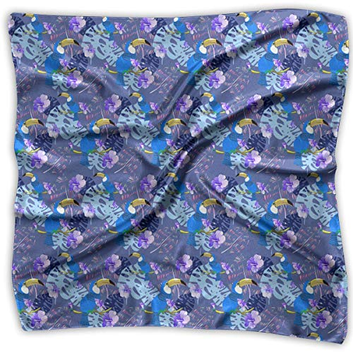 Mission Möbel Muster (Bikofhd Damen Schal, exotisches Muster, mit blauen Toukanischen Vögeln und tropischen Blättern)