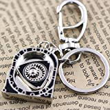 Nabati New rotore Keychain Hot auto parts Model lucido argento motore rotante portachiavi anello portachiavi portachiavi