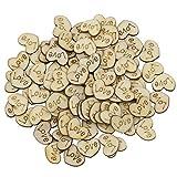 Bluelans® 100 Stück Deko Holzherzen Scheiben mit Gravur