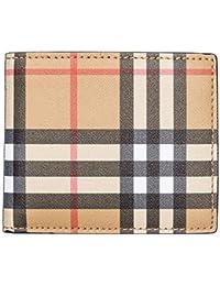 Burberry cartera billetera bifold de hombre en piel nuevo Ibillf marrón
